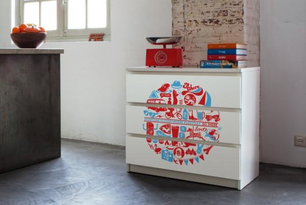 Dire di no a una casa monocolore con mykea bobos - Personalizzare mobili ikea ...