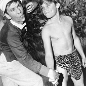 Bob Denver & a young Kurt Russell on Gilligan's Island