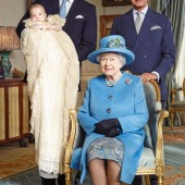The Queen and her three heirs Prince Charles, Prince William and Prince George