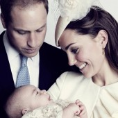 William, Kate and the little George