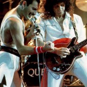 Freddie Mercury and Brian May